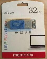 New listing Memorex Usb 2.0 Flash Drive Thumb Drive 32Gb Mac Os/ Windows *Blue Maze*