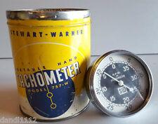 VINTAGE STEWART-WARNER PORTABLE HAND TACHOMETER MODEL 757-W B