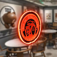 NEW BELGIUM Neon Signs Beer Bar Pub Party Homeroom Windows Decor Light For Gift