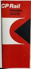 CANADIAN PACIFIC RAILWAY Time Table October 27, 1968