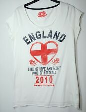 WHITE LADIES CAUSAL TOP T-SHIRT NEW LOOK SIZE 14 ENGLAND