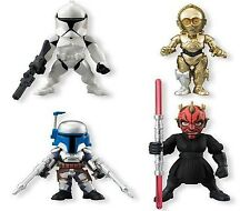 Star Wars (4 pc Set) Cake Toppers Action Figures PVC Collection C3PO Darth Maul