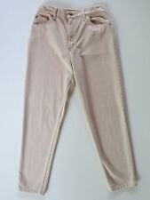 Women's Levi's Relaxed Tapered Leg Beige Tan Denim Jeans 12 Levis 30 x 30 USA