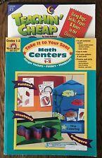 2 Books - Teachin' Cheap & Math Centers Grades 1 - 3