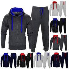 Herren Trainingsanzug Jogging-Oberteile Bottom Sport Sweat Anzug Hoodie Suit HS