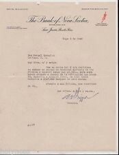 VINTAGE COMMERCIAL LETTER / THE BANK OF NOVA SCOTIA / SJ PUERTO RICO / 1940
