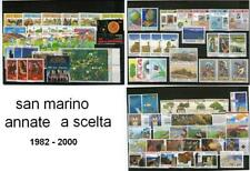 SAN MARINO ANNATE COMPLETE DAL 1982 AL 2000 A SCELTA - GUARDA BENE I PREZZI !!!!