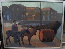 """Torsten Anderström*1917, """"Jugoslawische Hafenszene"""", um 1960"""