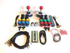 Ipac2 USB Mame Keyboard Encoder + 2 Joystick & illuminated Button Set Wiring Kit