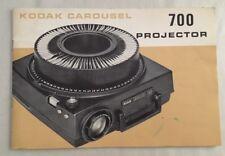 Vintage Kodak Carousel 700 Projector Manual Only