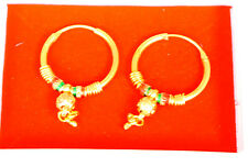 22 k gold plated HOOP ROUND EARRINGS - SMALL Indian earring   h25