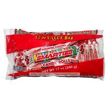 SMARTIES 12 oz Bag CANDY ROLLS Fat+Gluten+Peanut Free ASSORTED FLAVORS Exp. 8/20