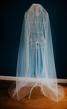 2.5 M Wide Wedding Veil *Chapel Length*Made to Order*Off white/Ivory*Cut Edge*