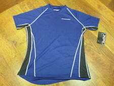 CANNONDALE WOMENS DOBLE TRACK NAVY CYCLING SHORT SLEEVE JERSEY BY GRIND MEDIUM
