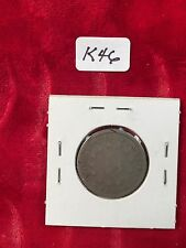 1867  Shield Nickel No Rays  well used light damage both sides  K46