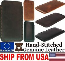 # HAND STITCHED GENUINE LEATHER POCKET CASE COVER SLEEVE POUCH FOR MOBILE PHONES