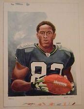 2009 Topps National Chicle Deion Branch Original Art Painting Super Bowl MVP