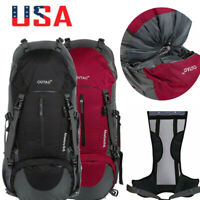 Waterproof Outdoor Sport Hiking Camping Travel Backpack Daypack Rucksack Bag 60L
