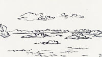 H.WINGLER (*1896), Inselgruppe in d Schären, 1962, Filzstift