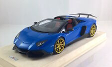 1/18 MR Lamborghini Aventador LP720-4 50 Blue Custom DMC style #1