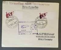 1935 Germany to Adolf Bohmer Rheinland D Bremen Cancel Catapult Air Mail Cover