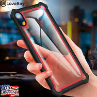 Hybrid Shockproof Heavy Duty Clear Case Cover iPhone XS Max/XR/X/6/6s/8/7/Plus