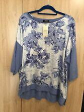 Papaya Size XL Size 20 /22 Blue Top With Flowers BNWT
