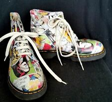 Dada High Top Classic Leather Tie Sneaker Shoes Gym Shoes Comic Strips