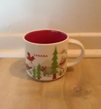 Starbucks Coffee 2013 CANADA Cup Mug You Are Here Series 14fl oz Grey Hat MINT!
