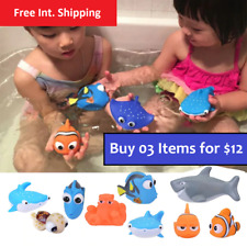 Baby Bath Toys Kids Funny Soft Rubber Float Swimming Squeeze Toys Bathroom