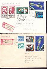 DDR 2 Briefe 2092 Mischfrankatur und 2091 Mischfrankatur beide R-Briefe Leipzig