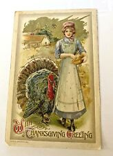 Postcard, With Thanksgiving Greeting, 1910