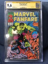 Marvel Fanfare #47 CGC 9.6 SS 1st Print Michael Golden signed!