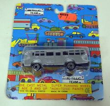 Unbranded Small Scale - Vintage 7.5cms Silver Toy Diecast bus on blister card