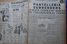 WW2 NEWSPAPER June 14 1943 Plight Of Italians Laid To Mussolini BNP CF