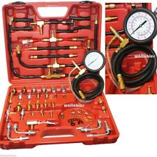 Pro Deluxe Manometer Fuel Injection Pressure Tester Gauge Kit System 0-120 PSI