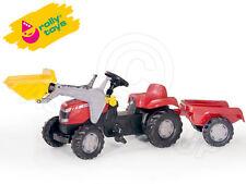 Rolly Toys - Massey Ferguson Pedal Tractor Front Loader & Trailer - Rare Model