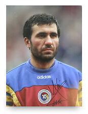 Gheorghe Hagi Signed 16x12 Photo Romania Display Autograph Memorabilia + COA
