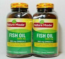 X2 Nature Made Fish Oil 1200 mg (360 mg OMEGA-3) 200 Liquid Softgels