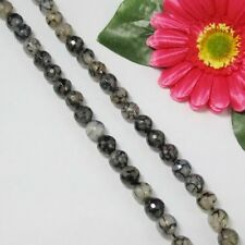 "Noir ""Rompu"" Agate 12mm Ronde Facettes  Perles"