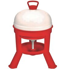 5 Gallon Automatic Gravity Fed Dome Poultry Waterer Chicken Drinker Domewtr5