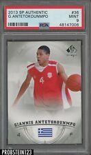 2013 SP Authentic #36 Giannis Antetokounmpo RC Rookie PSA 9 Centered