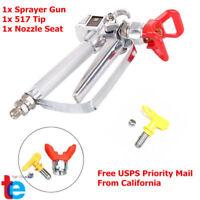 NEW 3600 PSI Airless Paint Spray Gun w/Tip & Tip Guard For Sprayers