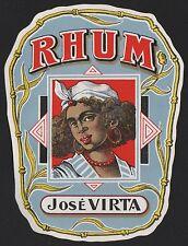 JOSÉ VIRTA - Rhum / Rum Etikett / rhum label / etiquette de rhum / ~ 1930 # 226