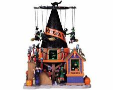 Lemax Spooky Town Witch's Hat Carnival Animated Musical Halloween Light up