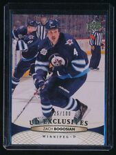 ZACH BOGOSIAN 2011-12 UPPER DECK EXCLUSIVES #258 025/100 *WINNIPEG JETS*