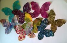 Batik Butterflies Large Fabric Scraps Pack Remnants Patchwork Bundle 100 Cotton