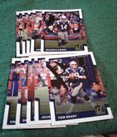 2017 Donruss New England Patriots Team Set, Tom Brady 10 cards