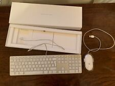 Apple Wired Numeric Keyboard (A1243) and Wired Mouse (M5769) set