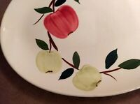 """VINTAGE RIO STETSON CHINA CO. 12"""" x 9"""" OVAL SERVING PLATTER HAND PAINTED FRUIT"""